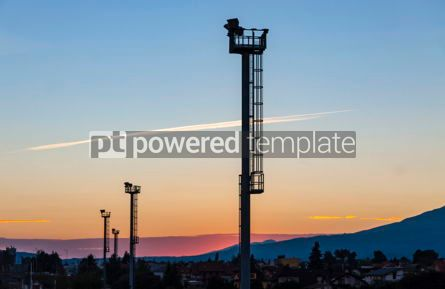 Nature: Sunset over Poprad railway station Slovakia #10198