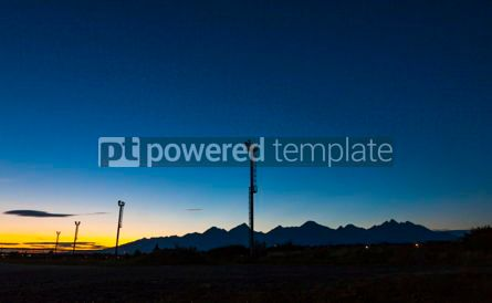 Nature: Sunset over Poprad railway station Slovakia #10199