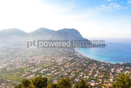Nature: Panoramic aerial view of Mondello beach Palermo Sicily Italy #10203