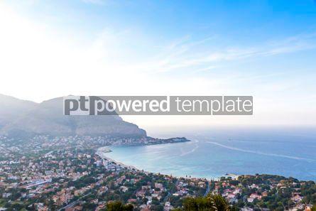 Nature: Panoramic aerial view of Mondello beach Palermo Sicily Italy #10205