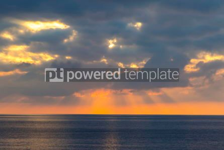 Nature: Sunset over Tyrrhenian Sea in Milazzo Sicily Italy #10206