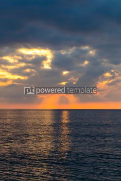 Nature: Sunset over Tyrrhenian Sea in Milazzo Sicily Italy #10207