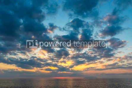 Nature: Sunset over Tyrrhenian Sea in Milazzo town Sicily Italy #10208