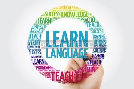 Business: Learn Language word cloud with marker education business concep #10228