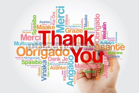 Business: Thank You word cloud in different languages with marker concept #10234