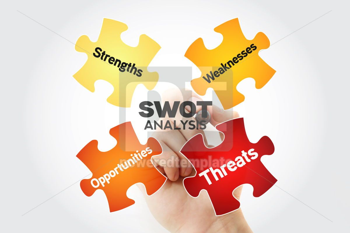 SWOT analysis business strategy management business plan with m, 10250, Business — PoweredTemplate.com