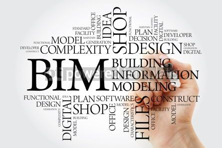 Business: BIM - building information modeling word cloud with marker busi #10257