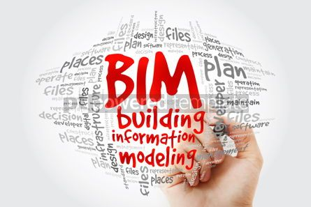 Business: BIM - building information modeling word cloud with marker busi #10262