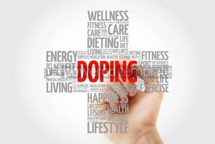 Education: Doping word cloud with marker health cross concept background #10269