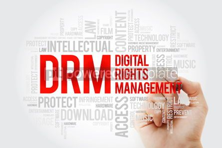 Business: DRM - Digital Rights Management word cloud with marker business #10272