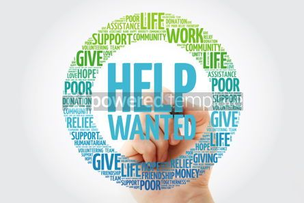 Business: Help Wanted word cloud with marker social concept background #10283