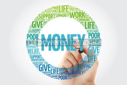 Business: Money word cloud collage with marker concept background #10293