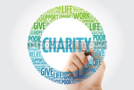 Business: Charity word cloud collage with marker concept background #10295