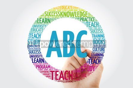 Business: ABC word cloud with marker education concept background #10299