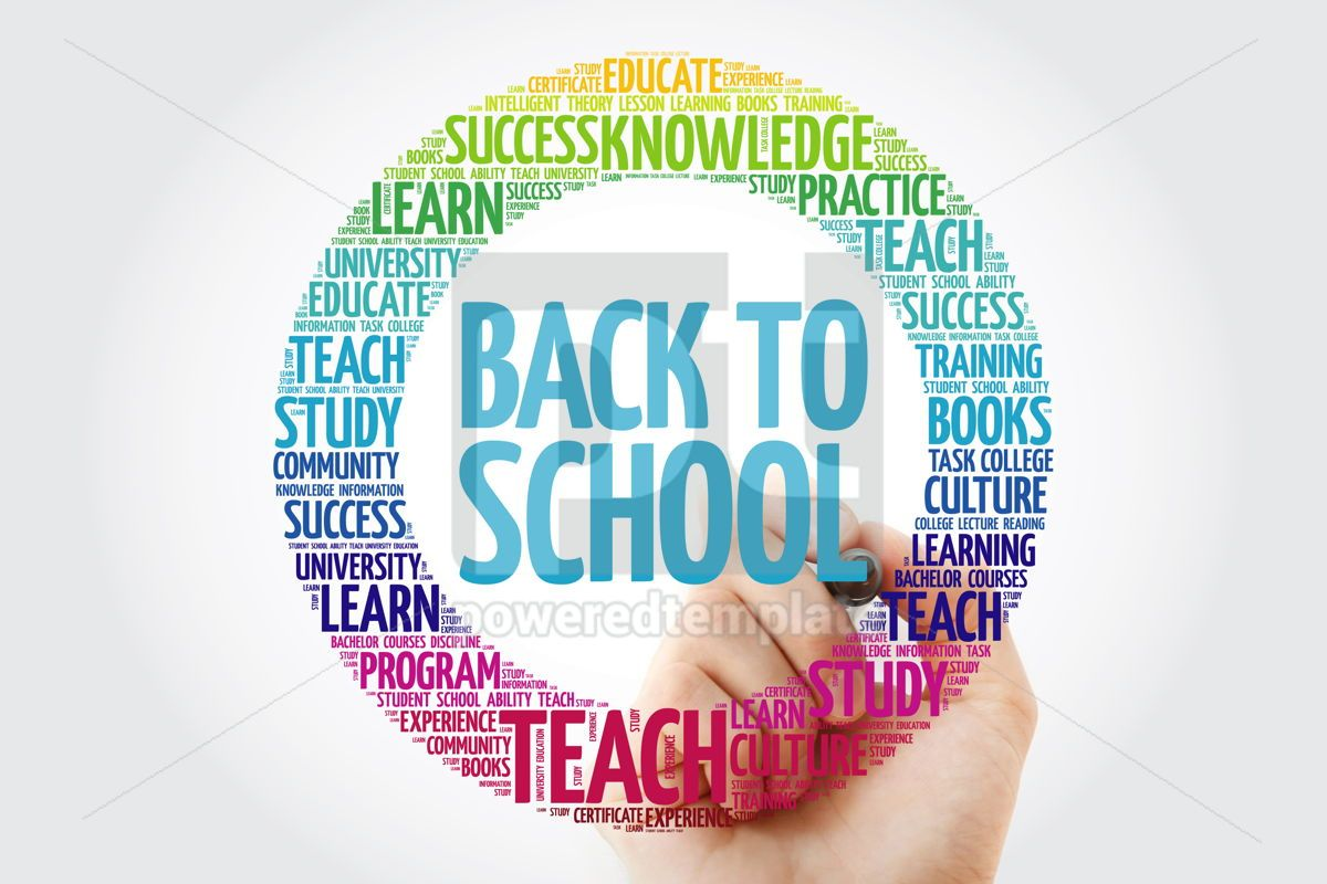 Back to School word cloud collage with marker education concept, 10308, Business — PoweredTemplate.com