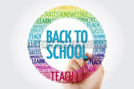 Business: Back to School word cloud collage with marker education concept #10308
