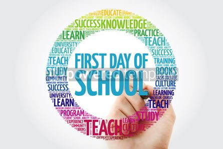 Business: First day of school word cloud collage with marker education co #10314