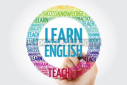 Business: Learn English word cloud collage with marker education concept  #10316