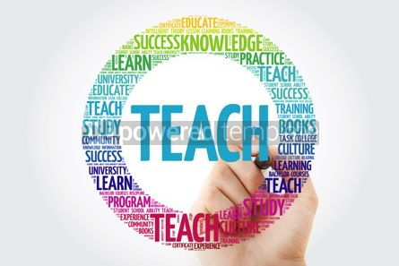Business: TEACH word cloud collage with marker education concept backgrou #10319