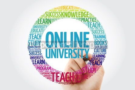 Business: Online University word cloud collage with marker education conc #10320