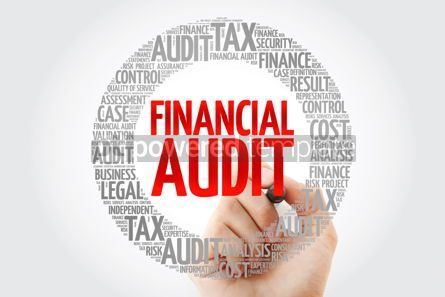 Business: Financial Audit word cloud with marker business concept backgro #10325