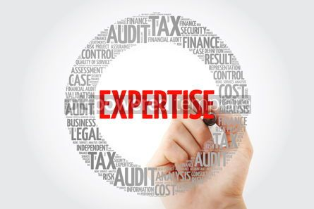 Business: EXPERTISE word cloud with marker business concept background #10326