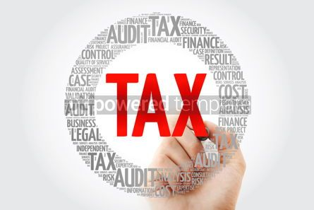 Business: TAX word cloud with marker business concept #10328