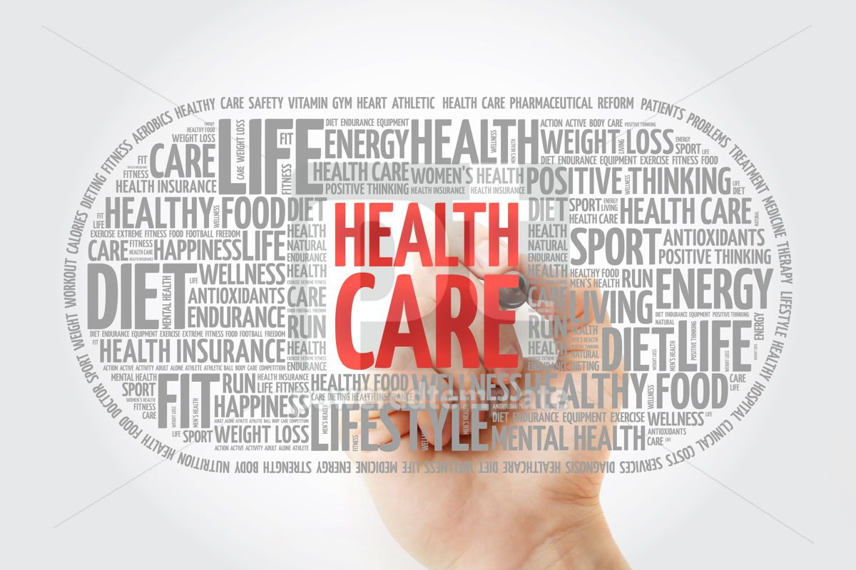 Health care medical pill word cloud with marker health concept , 10337, Education — PoweredTemplate.com