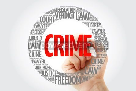 Business: Crime word cloud with marker concept background #10339