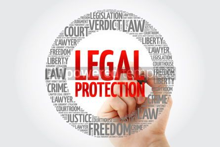 Business: Legal Protection word cloud with marker concept background #10342