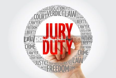Business: Jury Duty word cloud collage with marker law concept background #10345