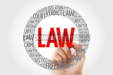 Business: Law word cloud with marker concept background #10347