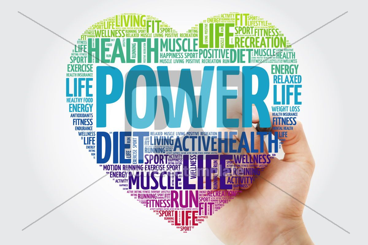 POWER heart word cloud with marker fitness sport health conce, 10354, Health — PoweredTemplate.com