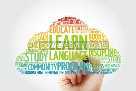 Education: Learn Language word cloud with marker education business concep #10359