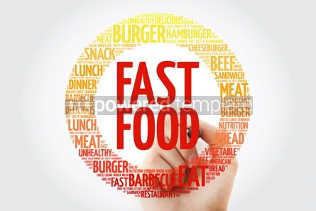 Food & Drink: FAST FOOD word cloud with marker concept background #10366