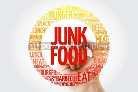 Food & Drink: JUNK FOOD word cloud with marker food concept background #10369