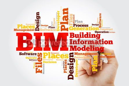 Business: BIM - building information modeling word cloud with marker busi #10374