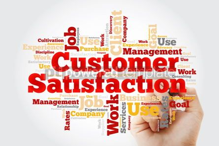 Business: Customer Satisfaction word cloud with marker business concept b #10375