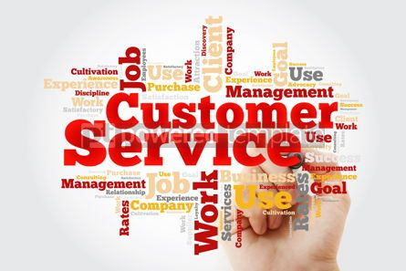 Business: Customer Service word cloud with marker business concept backgr #10377