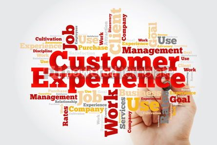 Business: Customer Experience word cloud with marker business concept bac #10378