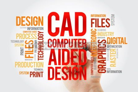 Business: CAD - Computer Aided Design word cloud with marker business con #10379
