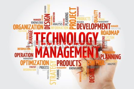 Business: Technology Management word cloud with marker business concept b #10380