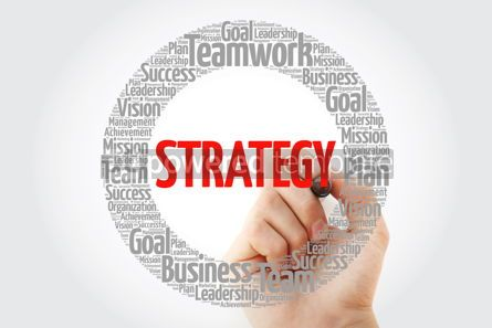 Business: Strategy word cloud with marker business concept #10388