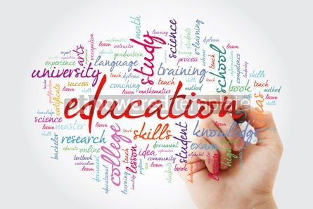 Business: EDUCATION word cloud with marker background concept #10393