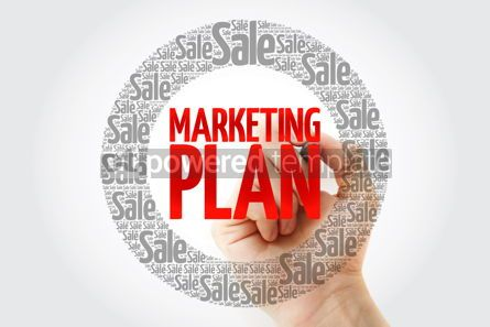 Business: Marketing Plan word cloud with marker business concept backgrou #10398