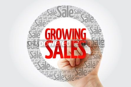 Business: Growing Sales words cloud with marker business concept backgrou #10401
