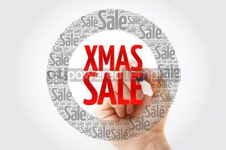 Business: XMAS SALE word cloud with marker business concept background #10405