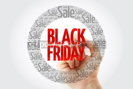Business: Black Friday circle word cloud with marker business concept bac #10407