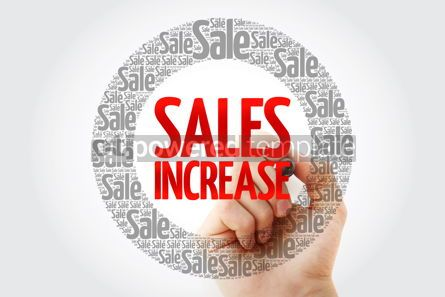 Business: Sales Increase words cloud with marker #10430