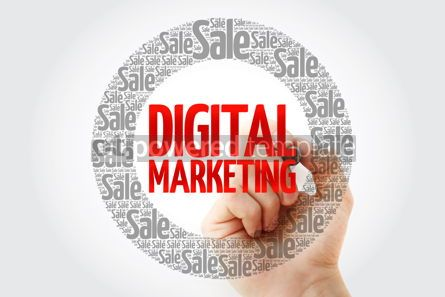 Business: Digital Marketing words cloud with marker business concept back #10432